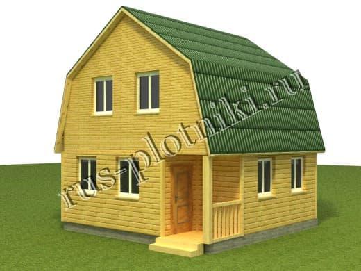 дом 6х6 под ключ