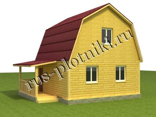 деревянный дом 6х6
