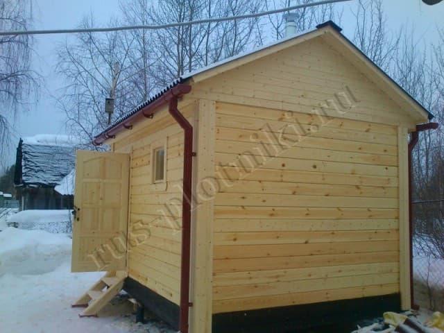 Деревянная баня 3х4