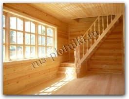 Интерьер брусового дома с мансардой внутри фото