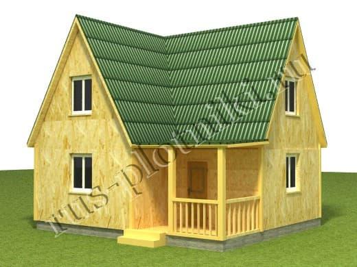 каркасный дом 7х6