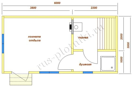 Баня 6х3 проекты