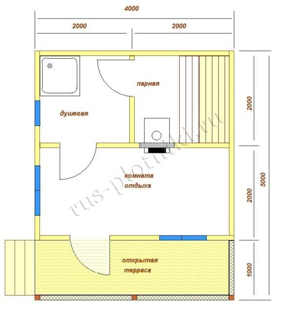 строительство бани 4х5 с мансардой проекты