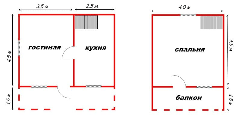 Дачный участок прямоугольной формы