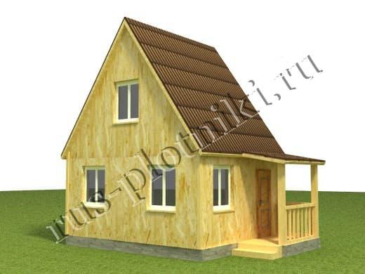 Каркасный дом 6х4