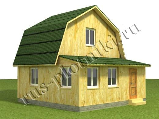Каркасный дом с верандой к 6