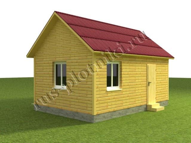 дом 6х6 из бруса