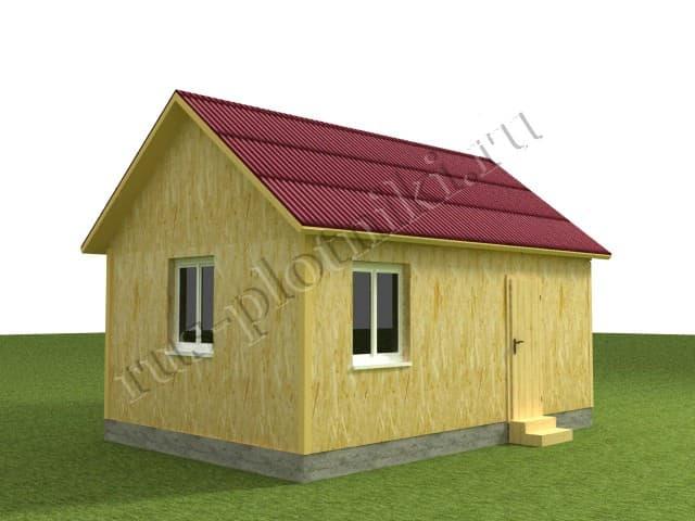одноэтажный дом 6х4