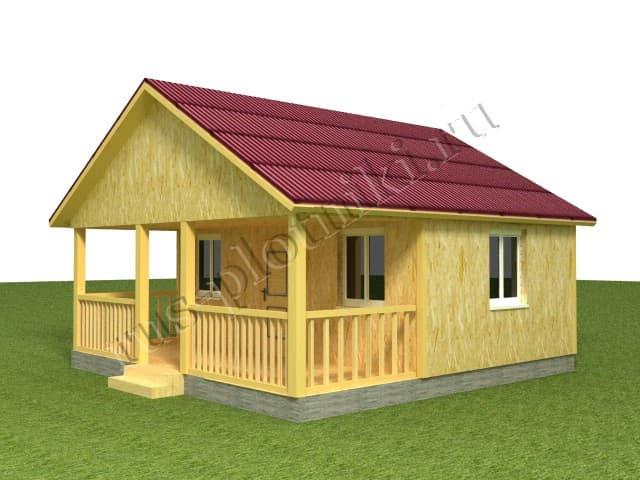 одноэтажный домик с террасой