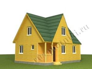 дачный дом 6х8