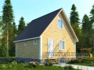 проект гостевого дома баня 6х6