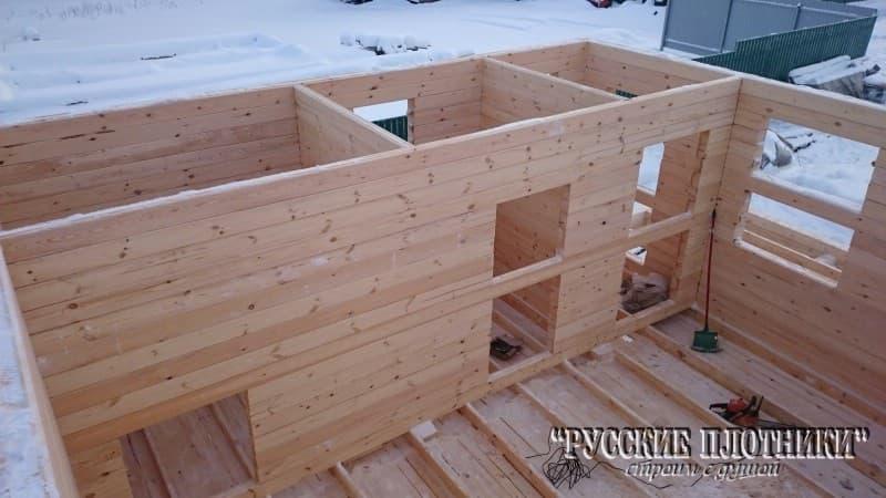 Строительство бани зимой