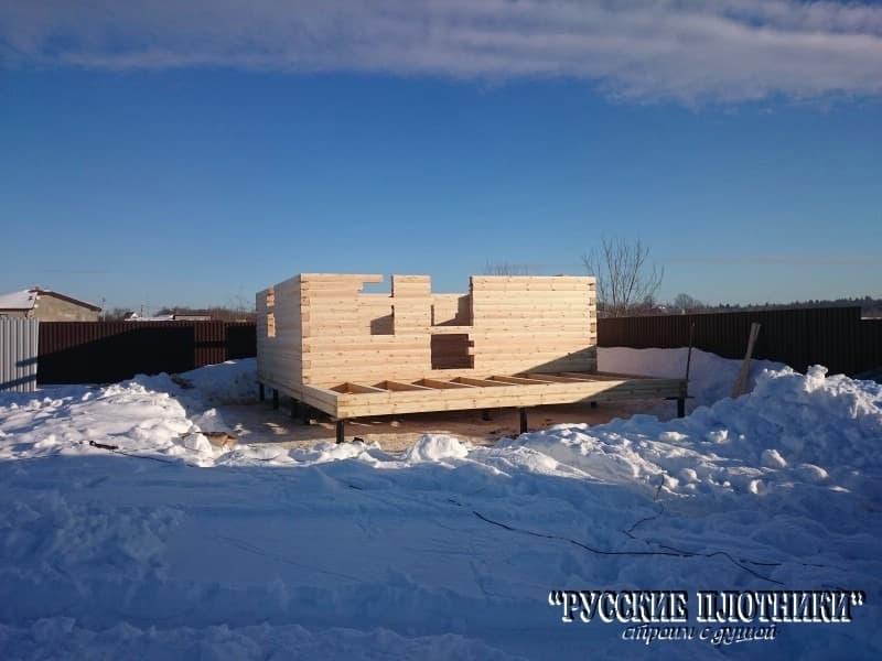 Строительство бани 6х6 с открытой террасой