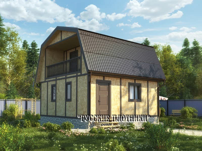 Фото дома с ломаной крышей