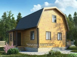 Дом из бруса с мансардой 6х7, проект Д-11
