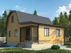 Дом из бруса с мансардой 7х8, проект Д-16