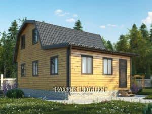 Дом из бруса с мансардой 6х9, проект Д-17