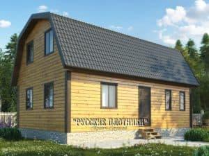 Дом из бруса с мансардой 6х9, проект Д-18