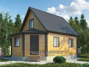Дом из бруса с мансардой 6х8, проект Д-19