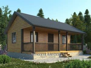 Одноэтажный дом из бруса 6х8, проект Д-31