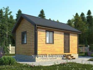 Одноэтажный дом из бруса 6х4, проект Д-32