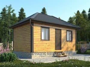 Одноэтажный дом из бруса 6х4, проект Д-33