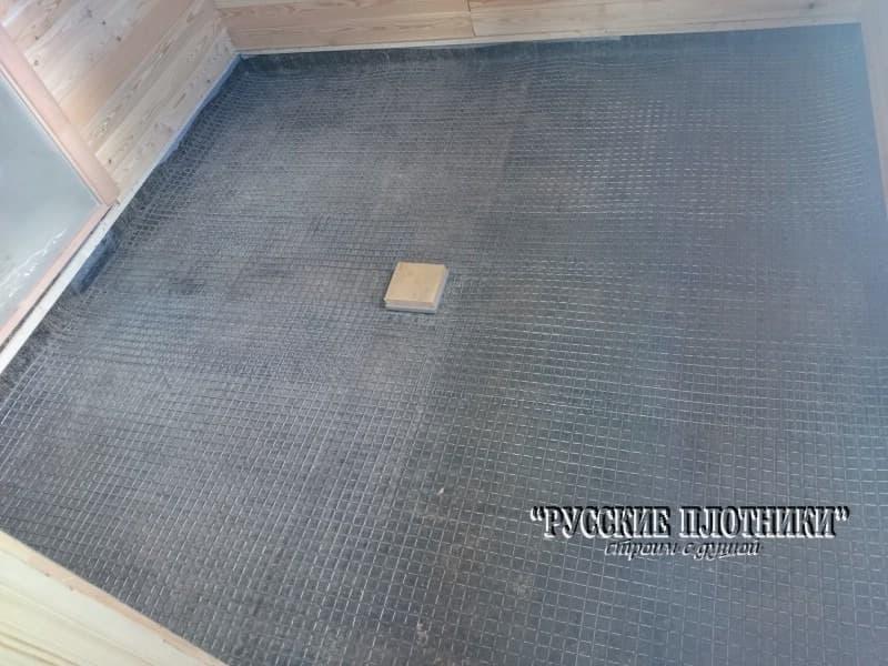 цементная стяжка на армирующей сетке
