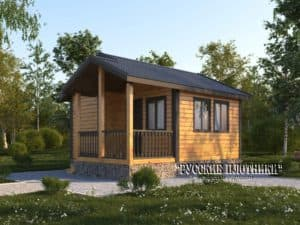 Каркасный дом с мансардой 6х9, проект К-38