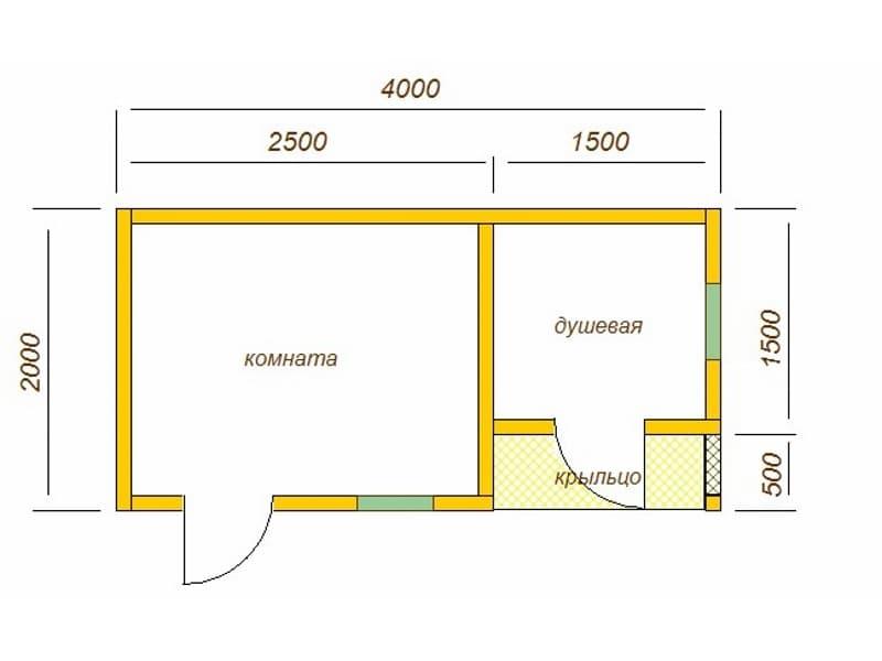 Летняя кухня из сухого бруса с дизайнерской бытовкой