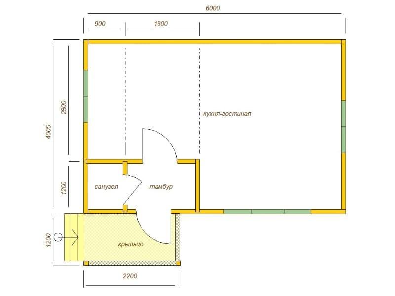 Садовый дом 6х4