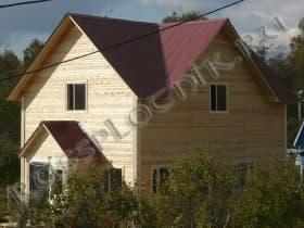дом из бруса в два этажа