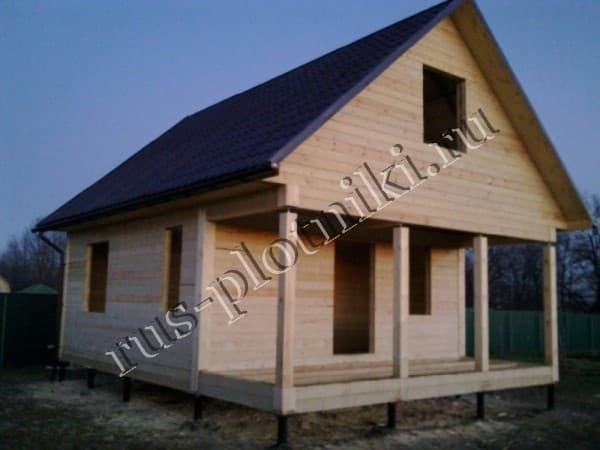 построили дом 6х8