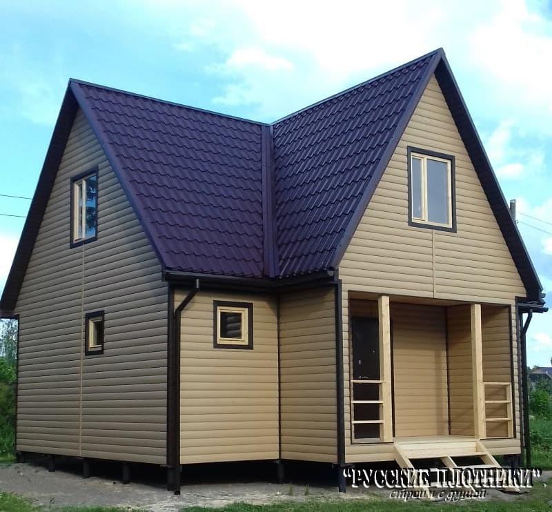 фото каркасного дома построенного под ключ