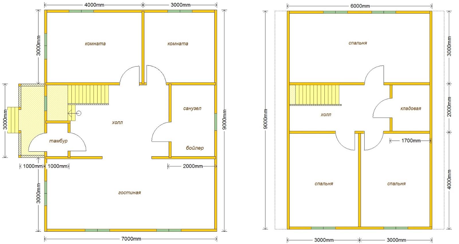 планировка дома Д-28