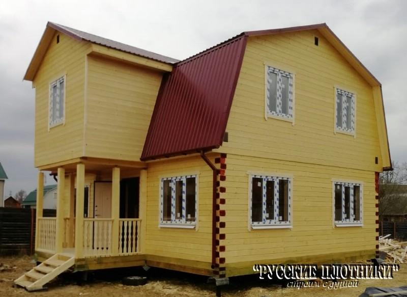Дом из бруса по проекту Д-28
