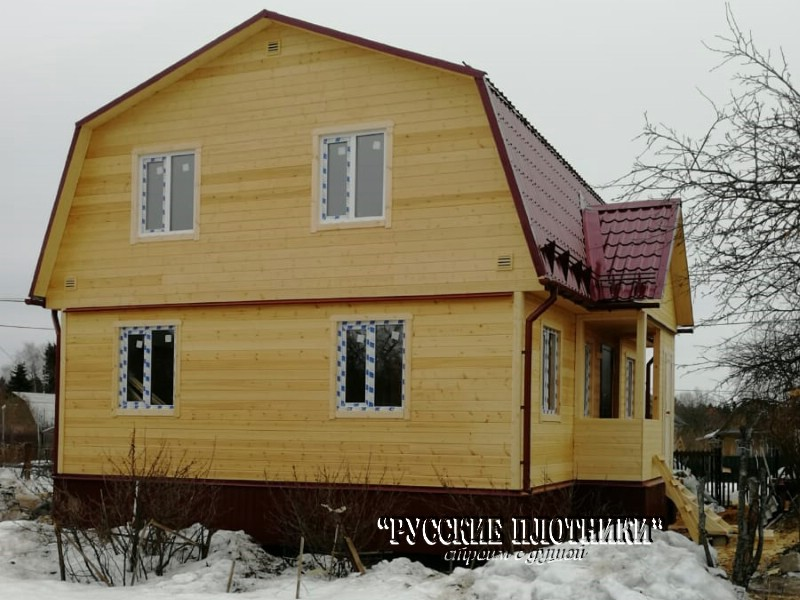 Зимний каркасный дом 7×9