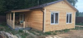 Дом-баня из бруса в Дмитровском районе